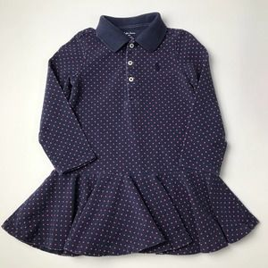 Ralph Baby Girl Fit & Flare Polo Dress